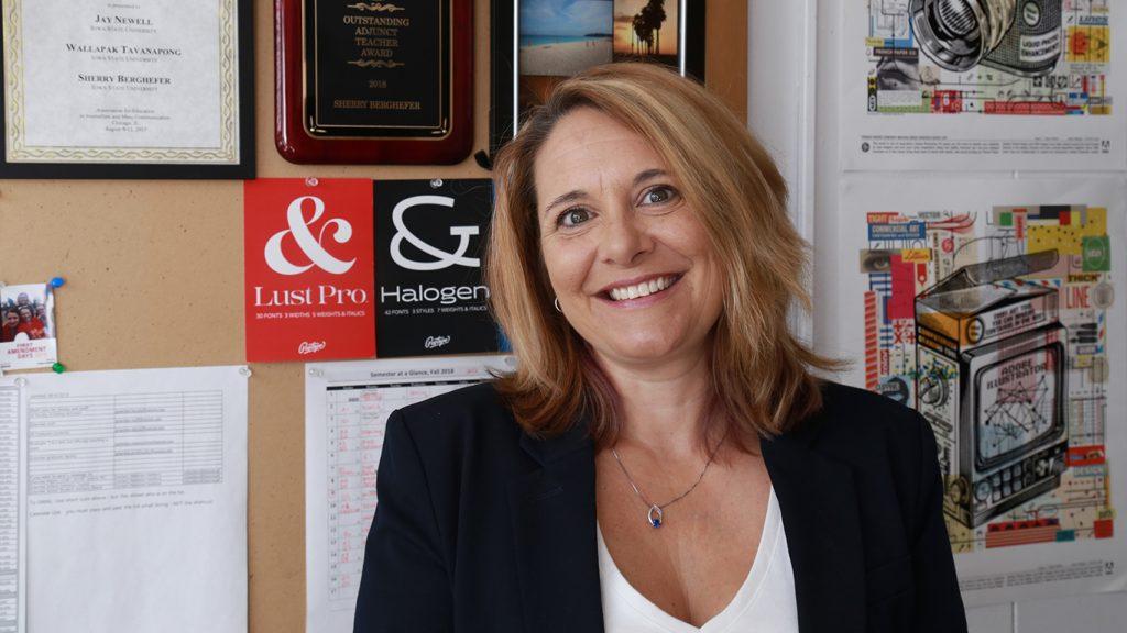 Sherry Berghefer in her office